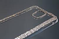 Чехол для Samsung Galaxy Note 4 прозрачный с кристаллами, фото 1