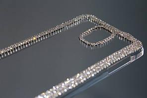 Чехол для Samsung Galaxy Note 4 прозрачный с кристаллами