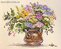 Мережка Набор для вышивки нитками Польові квіти К-16, фото 1