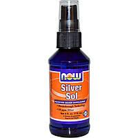 Спрей гидрозоль серебра, Now Foods, 10 РРМ, 118  мл
