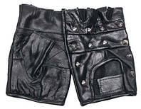 Перчатки Беспалые (с заклепками)