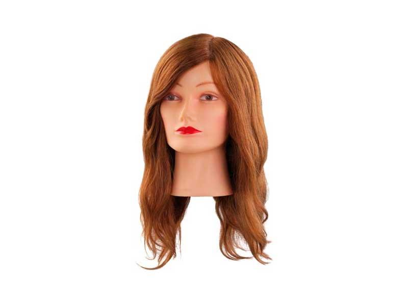 Учебная голова 40 см светло-коричневая натуральная