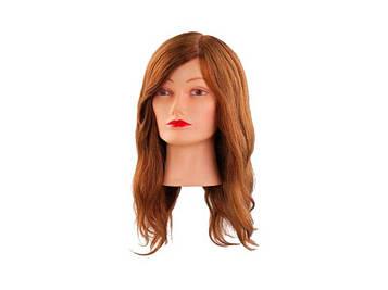 Навчальна голова 40 см світло-коричнева, натуральна