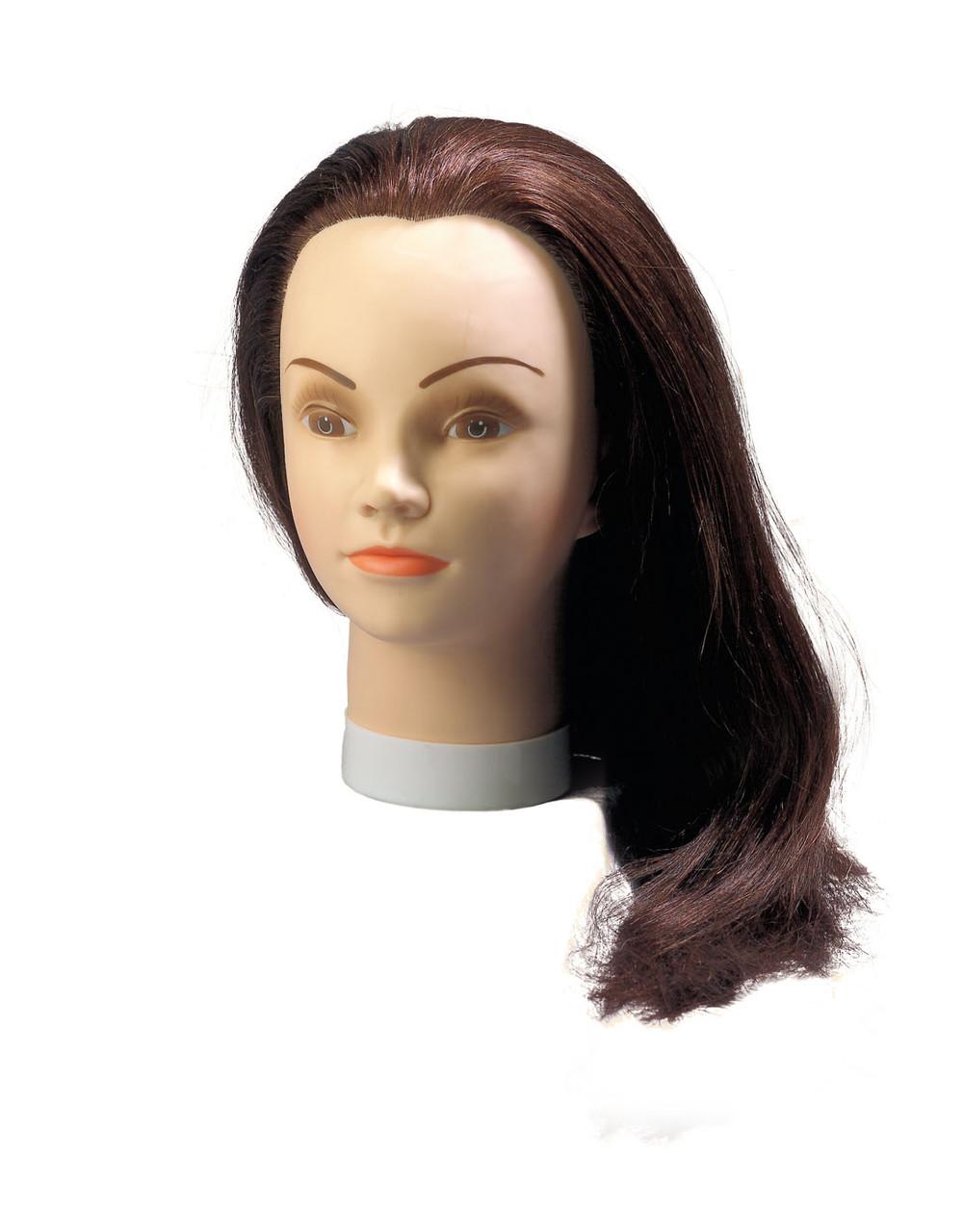 Учебная голова 50-55см темная натуральная