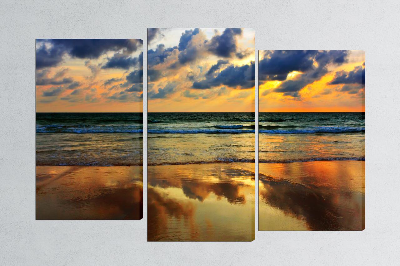 Модульная картина Закат у моря