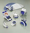Подставка Vegas настольная для скрепок  DURABLE cеребристо-синяя, фото 2