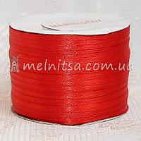Атласная лента 0,3 см, красный