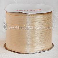 Атласная лента 0,3 см, кремовый