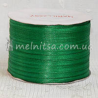 Атласная лента 0,3 см, зеленый