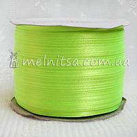 Атласная лента 0,3 см, ярко-салатовый