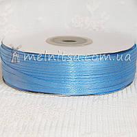 Атласная лента 0,3 см, голубой