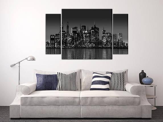 Модульная картина Ночной мегаполис, фото 2