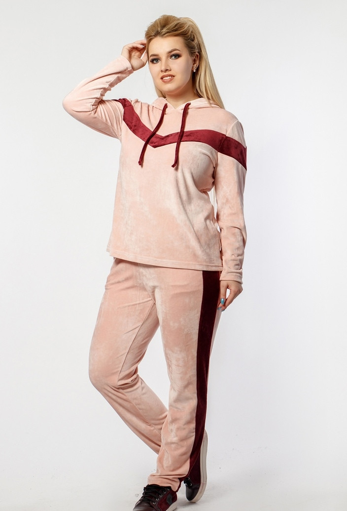 b61b4797 Плюшевый спортивный костюм женский MIN-229 - Joanna - интернет магазин  одежды в Одессе