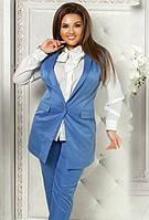 Женский брючный костюм с жилетом DV-751