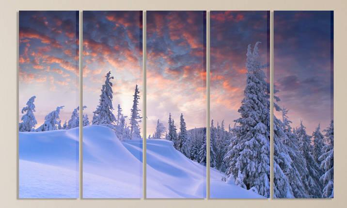 Модульная картина Зима в горах, фото 2