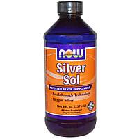 Гидрозоль серебра, Now Foods, 10 РРМ, 237  мл