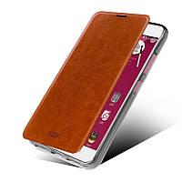 Кожаный чехол книжка MOFI для Lenovo S60 коричневый