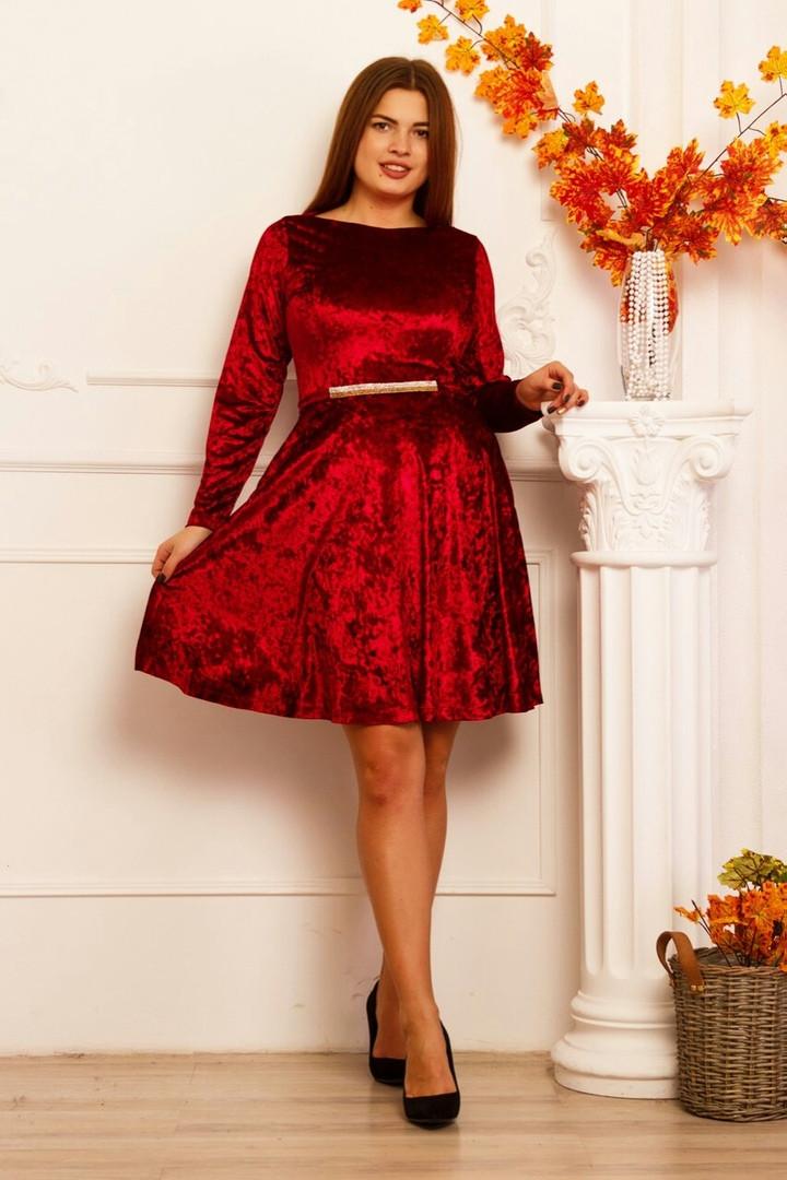 88388e9d84f Красивое велюровое платье ABL-996 - Joanna - интернет магазин одежды в  Одессе