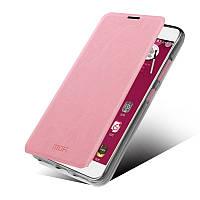 Кожаный чехол книжка MOFI для Lenovo S60 розовый