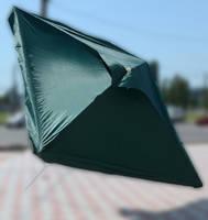 Зонт квадратный с клапаном (3x3 м) для торговли, отдыха на природе (4 метал. спицы, цвета в асс.) DJV /N-33