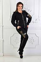 Спортивный костюм со стразами женский OLD-3087