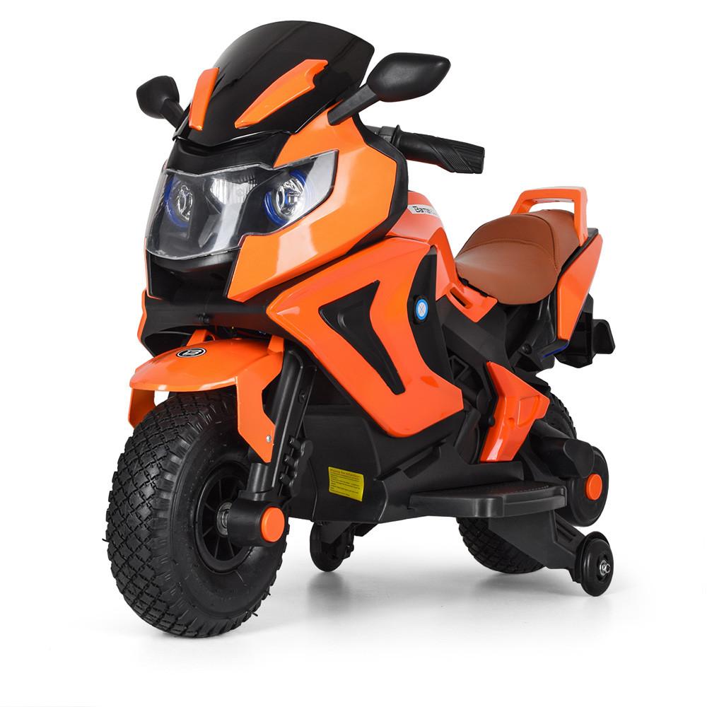 Мотоцикл детский M 3681ALS-7 Автопокраска оранжевый Гарантия качества Быстрая доставка