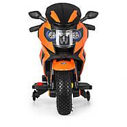 Мотоцикл детский M 3681ALS-7 Автопокраска оранжевый Гарантия качества Быстрая доставка, фото 2
