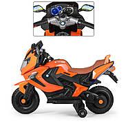 Мотоцикл детский M 3681ALS-7 Автопокраска оранжевый Гарантия качества Быстрая доставка, фото 3