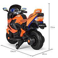 Мотоцикл детский M 3681ALS-7 Автопокраска оранжевый Гарантия качества Быстрая доставка, фото 4