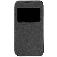 Кожаный чехол книжка Nillkin Sparkle для HTC Desire 320 черный