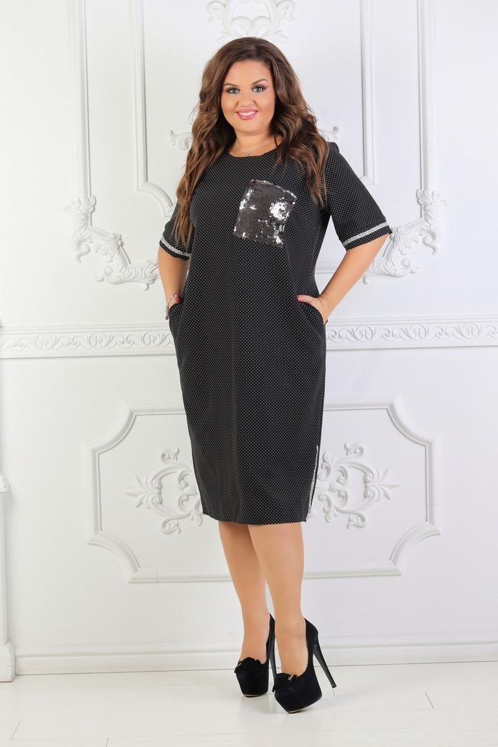 c8582e17670 Платье в мелкий горох OLD-3096 - Joanna - интернет магазин одежды в Одессе