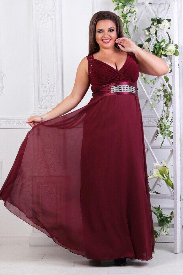 6df8c778fac Вечернее платье в пол для полных AS-188 - Joanna - интернет магазин одежды в