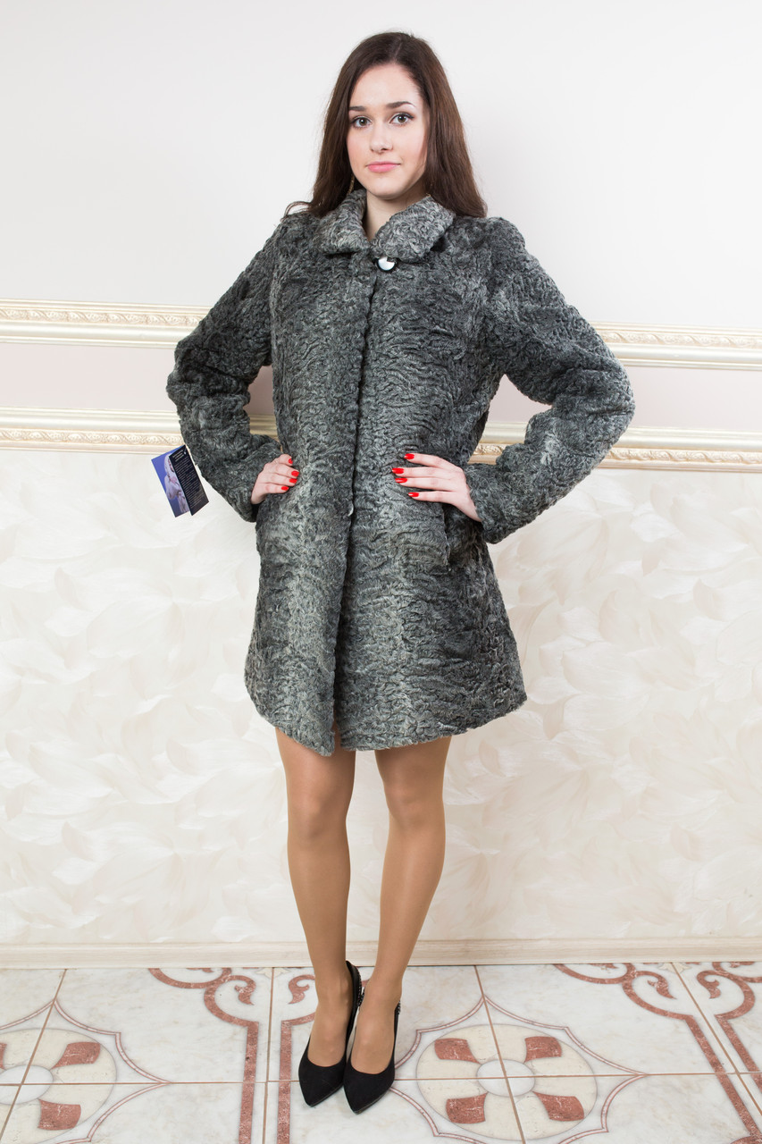 33b9deeac2c Мини-пальто из каракульчи - Интернет-Магазин