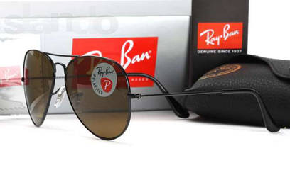 Очки Ray Ban Aviator 3026 polarized black
