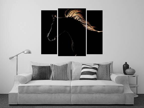 """Модульная картина """"Лошадь"""", фото 2"""
