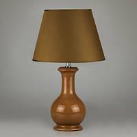 Стильный керамический светильник 45 см. цвет бронза