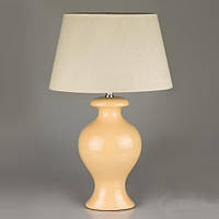 Керамическая лампа 54 см, бежевая  (овальный абажур)