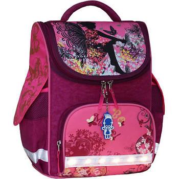 Рюкзак школьный каркасный с фонариками Bagland Успех 12 л. малиновый 389 , размер 34 x 25 x 14 см