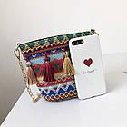 Разноцветная женская сумка с кисточками 2, фото 4