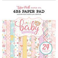 Набір двостороннього паперу - Hello Baby Girl - Echo Park - 15х15 Ціна за пів набору (12 л.)