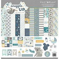 Набір двостороннього паперу - Snuggle Up Boy - Photoplay Paper - 30x30
