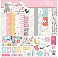 Набір двостороннього паперу - Snuggle Up Girl - Photoplay Paper - 30x30