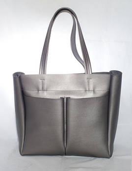 Большая женская сумка-шоппер B.Elit,цветграфит , размер Большой
