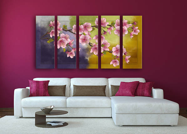 """Модульная картина """"Орхидея"""", фото 2"""
