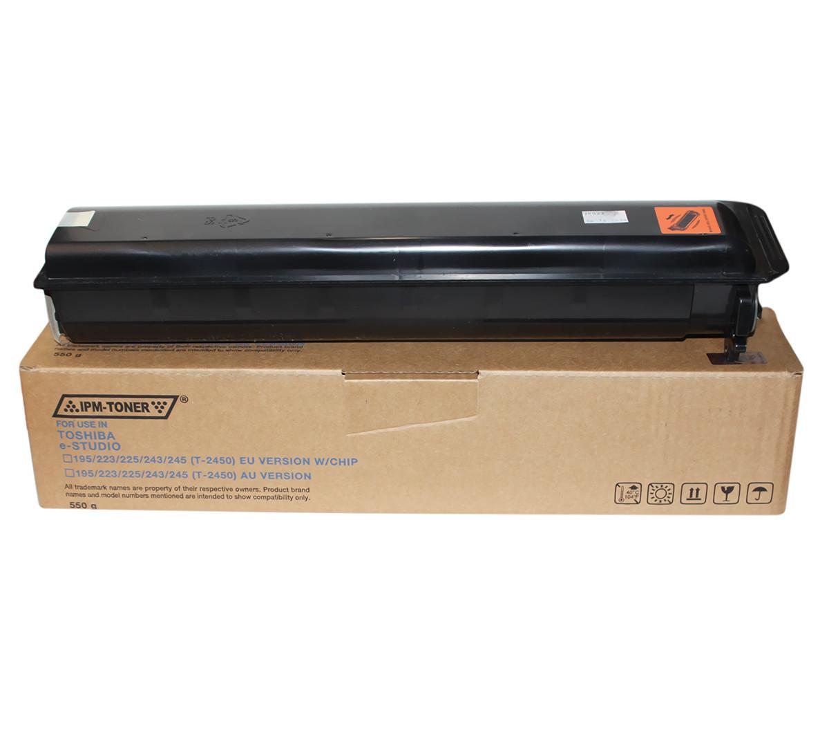 Тонер Toshiba T-2450, Black, e-Studio 195/223/225/243/245, туба, 550 г, IPM (TKT24EU)