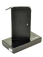 Мужское кожаное портмоне MS-11 black.Купить портмоне кожаные оптом и в розницу Одесса 7км, фото 1