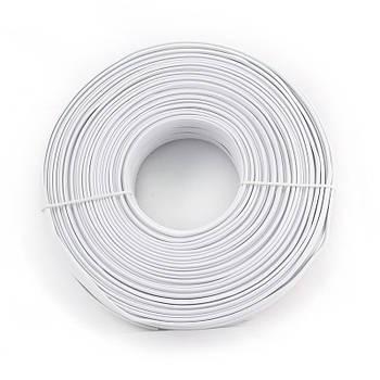 Кабель телефонный Cablexpert TC1000S-100M , 4 пары, плоский, литой, 100м белый цвет