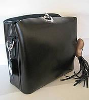 Женский кожаная сумка клатч 2083 Black Женская кожаная сумка, кожаный женский клатч, фото 1