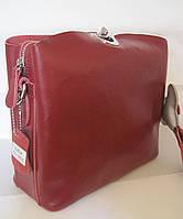 Женский кожаная сумка клатч 2083 W.Red Женская кожаная сумка, кожаный женский клатч, фото 1