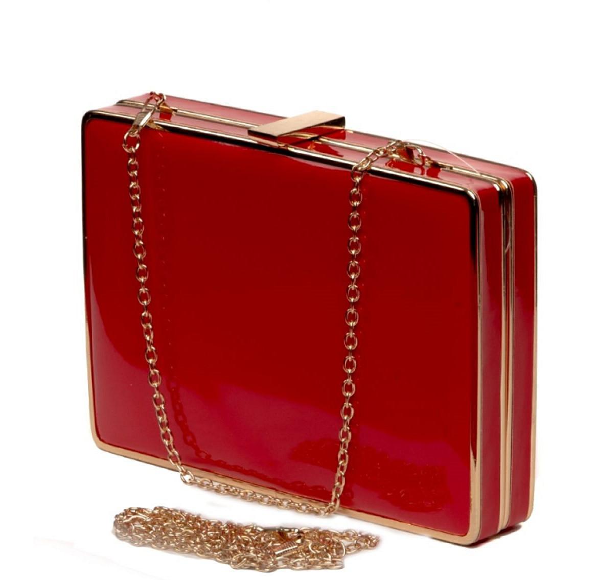 87b393307dfc Клатч-коробка женский красный лаковый Rose Heart RH 4075 красный - Интернет  магазин